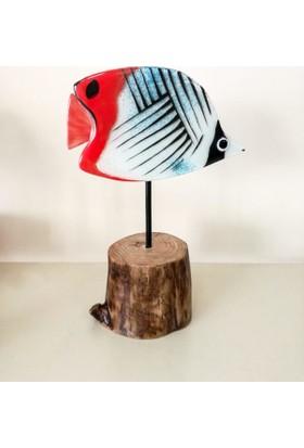 Cam Stüdyo Cam Ve Ağaç Dekor Kelebek Balık (Butterfly Fish)