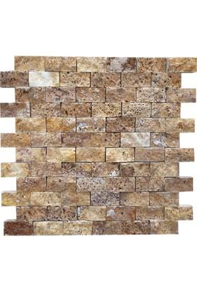 Markataş Sarı Traverten Patlatma Mozaik Doğal Taş
