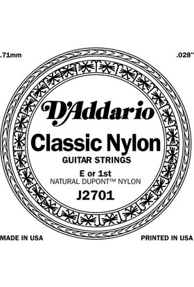 Daddario J2701 Klasik Tek Tel Clear Naylon Normal Tension (Mi)