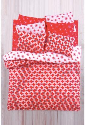 Evim Çift Kişilik 4 Mevsim Set Riba Kırmızı