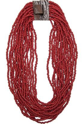 Mia Munia Kırmızı Boncuklu Kolye N9900004