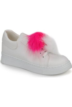 Butigo Pio*01Z37Z Beyaz Fuşya Kadın Ayakkabı