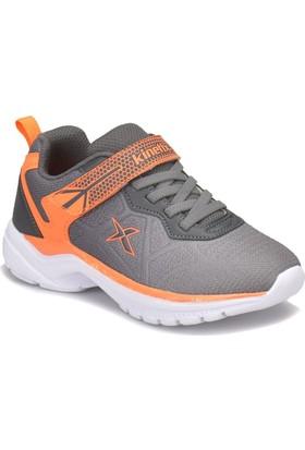 Kinetix Skay Açık Gri Gri Neon Turuncu Erkek Çocuk Yürüyüş Ayakkabısı