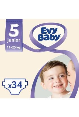 Evy Baby Bebek Bezi Junior 5 Beden Jumbo Ekonomik Paket 34 Adet