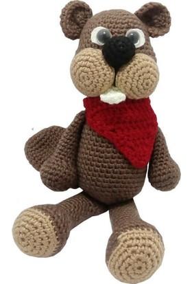 Knitting Toy Sevimli Kunduz El Örgüsü (Amigurumi) Organik Oyuncak