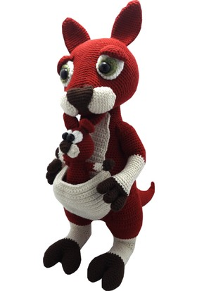 Knitting Toy Anne Ve Bebek Kanguru El Örgüsü (Amigurumi) Organik Oyuncak
