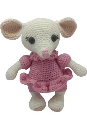 Knitting Toy Sevimli Fare Lucy El Örgüsü - Amigurumi Oyuncak