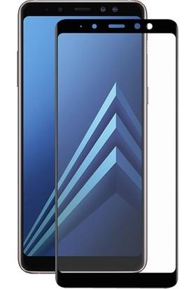 Dafoni Samsung Galaxy A8 2018 Curve Slim Triple Shield Siyah Ekran Koruyucu