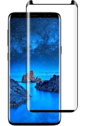 Dafoni Samsung Galaxy S9 Plus Curve Tempered Glass Premium Full Siyah Cam Ekran Koruyucu