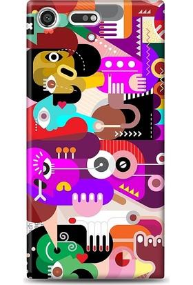 Eiroo Sony Xperia XZ Premium Modern Art Kılıf