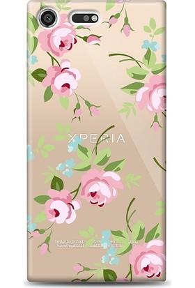 Eiroo Sony Xperia XZ Premium Roses Kılıf