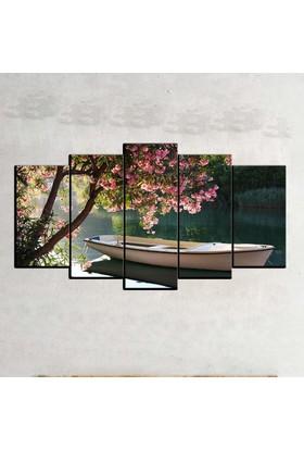 Kanvas Burada MNZ5-3 Manzara 5 Parçalı Kanvas Tablo - 120 x 60 cm