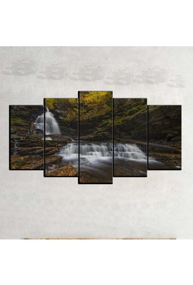Kanvas Burada MNZ5-603 Manzara 5 Parçalı Kanvas Tablo - 120 x 60 cm