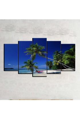 Kanvas Burada MNZ5-852 Manzara 5 Parçalı Kanvas Tablo - 120 x 60 cm