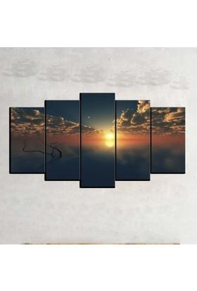 Kanvas Burada MNZ5-1128 Manzara 5 Parçalı Kanvas Tablo - 120 x 60 cm