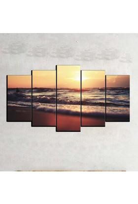 Kanvas Burada MNZ5-1271 Manzara 5 Parçalı Kanvas Tablo - 120 x 60 cm