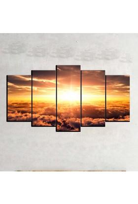 Kanvas Burada MNZ5-1806 Manzara 5 Parçalı Kanvas Tablo - 120 x 60 cm