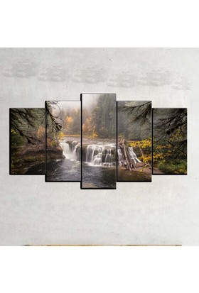 Kanvas Burada MNZ5-1895 Manzara 5 Parçalı Kanvas Tablo - 120 x 60 cm