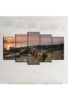 Kanvas Burada MNZ5-1925 Manzara 5 Parçalı Kanvas Tablo - 120 x 60 cm