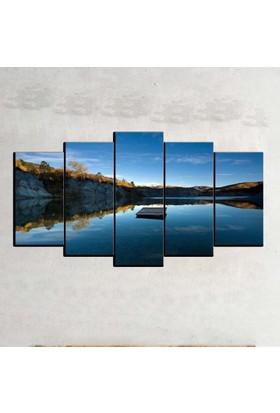 Kanvas Burada MNZ5-2156 Manzara 5 Parçalı Kanvas Tablo - 120 x 60 cm