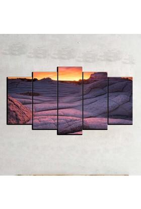 Kanvas Burada MNZ5-2402 Manzara 5 Parçalı Kanvas Tablo - 120 x 60 cm