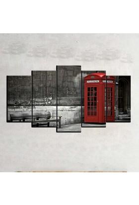 Kanvas Burada SYB5-39 Siyah Beyaz 5 Parçalı Tablo - 120 x 60 cm