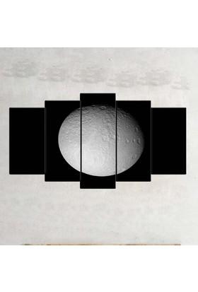 Kanvas Burada SYB5-81 Siyah Beyaz 5 Parçalı Tablo - 120 x 60 cm