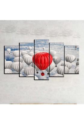Kanvas Burada ABS5-10 Soyut 5 Parçalı Kanvas Tablo - 120 x 60 cm