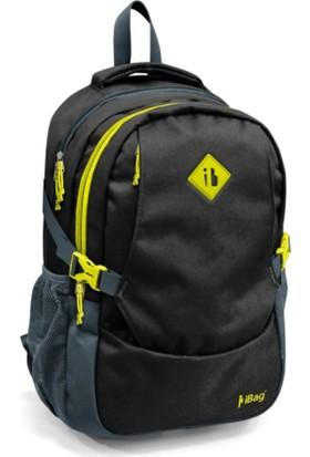 iBag Siyah Sarı Okul Sırt Çantası 13940