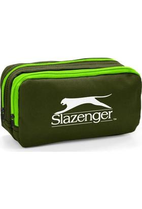 Slazenger İki Bölmeli Haki Yeşil Kalem Çantası 12422