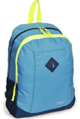 iBag Mavi - Lacivert Renk Sırt - Okul Çantası 12763