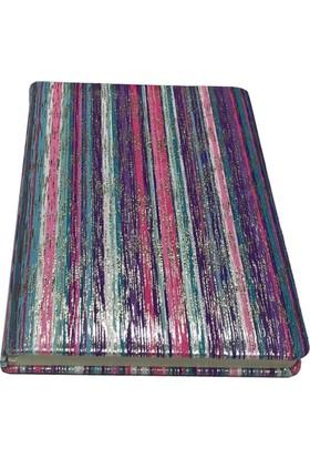 Victoria's Journals Karisma Tex 80 Yaprak Çizgili Flexy Mor Bloknot 14x20 cm