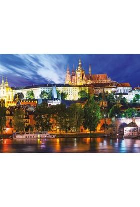 Dino Puzzle 1000 Parça - Prag'da Yaz Gecesi Karanlıkta Parlayan
