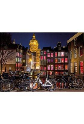 Dino Puzzle 1000 Parça Amsterdam Gecesi Puzzle