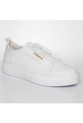 Chekich 013 Beyaz Bagcıksız Ayakkabı