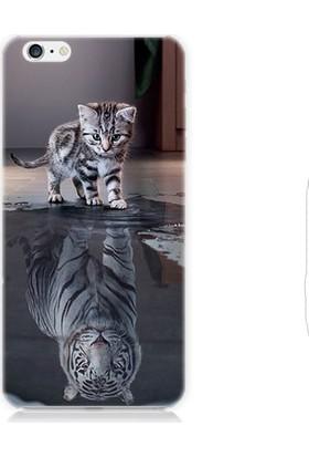 Teknomeg Apple iPhone 6 Plus Yavru Kedi Desenli Tasarım Silikon Kılıf