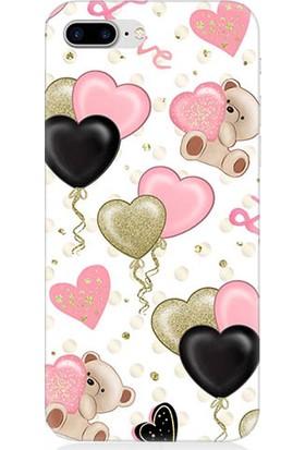 Teknomeg Apple iPhone 7 Plus Love Aşk Desenli Tasarım Silikon Kılıf