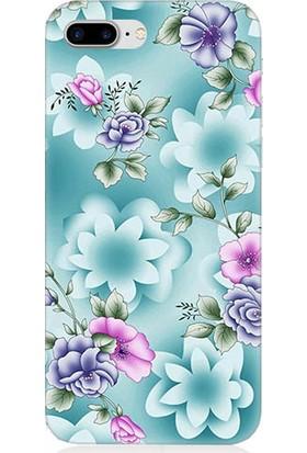 Teknomeg Apple iPhone 7 Plus Bahar Çiçekleri Desenli Tasarım Silikon Kılıf