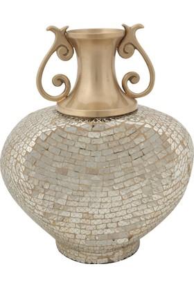 Allmode Rjn Dekoratıf Uzun Vazo Gold Ro.10569
