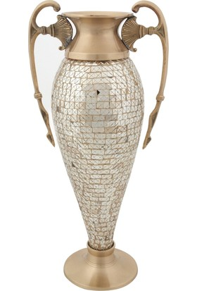 Allmode Rjn Dekoratıf Uzun Vazo Gold Ro.10919
