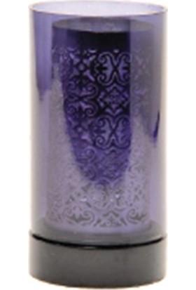 Allmode Mrq Desenlı Kafesli Mum Gümüş Büyük