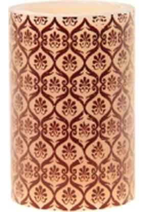 Allmode Mrq Desenlı Mum Oranjkahve 4 x 6 cm Mı.8241D