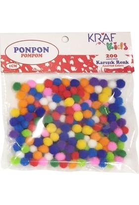 Kraf Kids Ponpon 1 CM 200 LÜ KK70