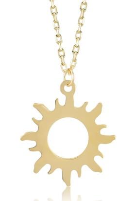 Gelin Pırlanta 14 Ayar Altın Güneş Kolye