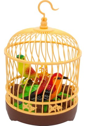 Limon Oyuncak Sesli Kafeste Papağan Heartful Bird