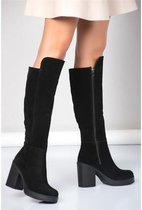 Fox Shoes Siyah Kadın Çizme A476276002