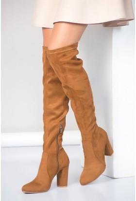 Fox Shoes Taba Kadın Çizme A842070802