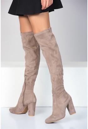 Fox Shoes Vizon Kadın Çizme A842070802