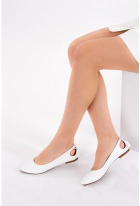 Fox Shoes Beyaz Kadın Babet B290080109
