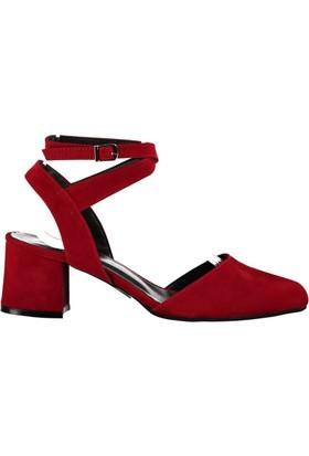 Fox Shoes Kırmızı Kadın Topuklu Sandalet B462703202